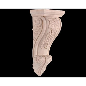 Legacy 14 Inch Scroll Corbel with Grape Motif