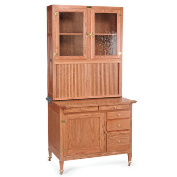 HOOSIER HIGH BOY CABINET KIT WITH WOOD TOP