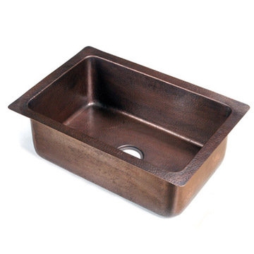 Drop In Single Bowl Copper Sink