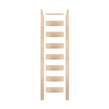Quiet Glide Library Ladder Unassembled & Unfinished - 16 Inch