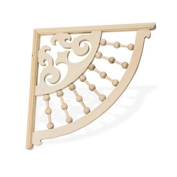 Gingerbread Bracket With Spindles