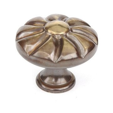 Armac Flower Cabinet Knob - Antique Brass