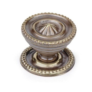 Armac Antique Brass Cabinet Knob With Backplate
