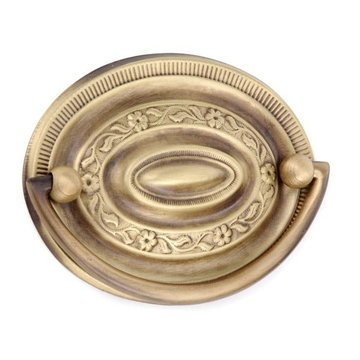 Armac Stamped Brass Floral Oval Bail Pull