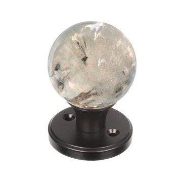 SMOKY QUARTZ DUMMY GEMSTONE DOOR KNOB SET