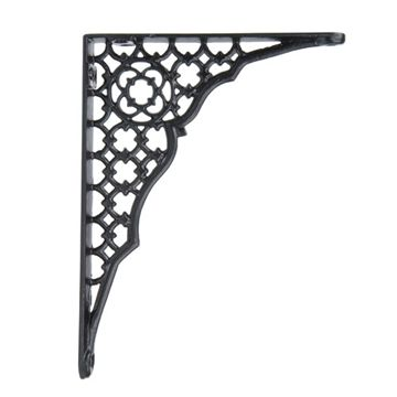 Restorers Circle Design Iron Shelf Bracket