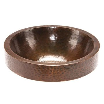 Premier Copper Round Skirted Vessel Sink