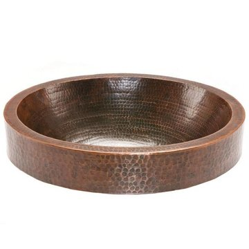 COPPER OVAL SKIRTED VESSEL