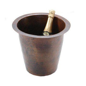 Premier Copper 12 Inch Round Champange Copper Sink
