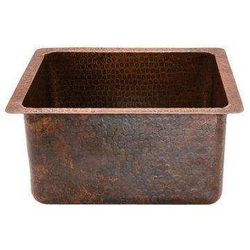 Premier Copper 16 Inch Rectangular Copper Bar Prep Sink