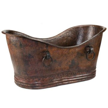 Premier Copper Double Slipper Copper Bath Tub