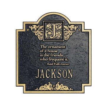 EMERSON PERSONALIZED MONOGRAM PLAQUE