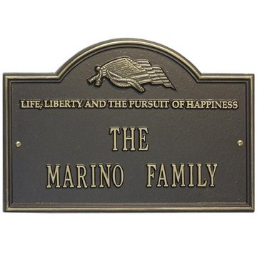 LIFE & LIBERTY 1-LINE PERSONALIZED PLAQUE