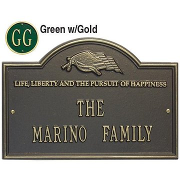 LIFE & LIBERTY 2-LINE PERSONALIZED PLAQUE