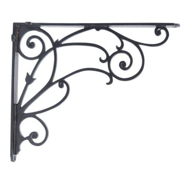 BLACK ALUMINUM SHELF BRACKET