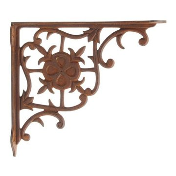 Restorers Fleur De Lis Iron Shelf Bracket