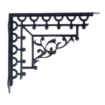 BLACK CAST IRON SHELF BRACKET