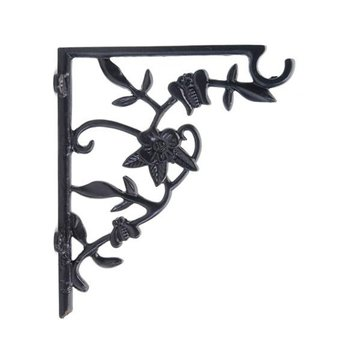 Restorers Flower and Leaf Iron Shelf Bracket/Plant Hanger