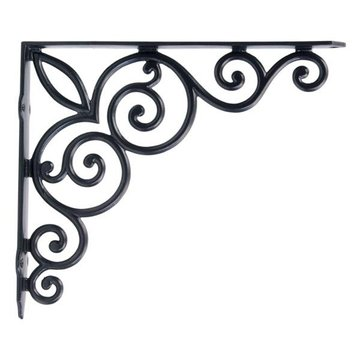 Restorers Black Powder Iron Shelf Bracket