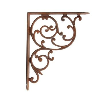 Restorers 8 Inch x 10 Inch Iron Shelf Bracket