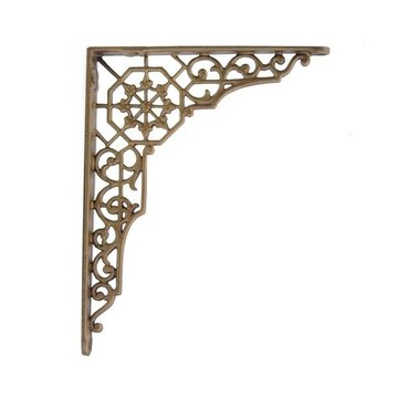 ANTIQUE BRASS CAST IRON SHELF BRACKET