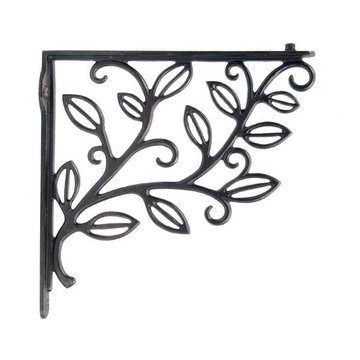 NATURAL BLACK CAST IRON SHELF BRACKET