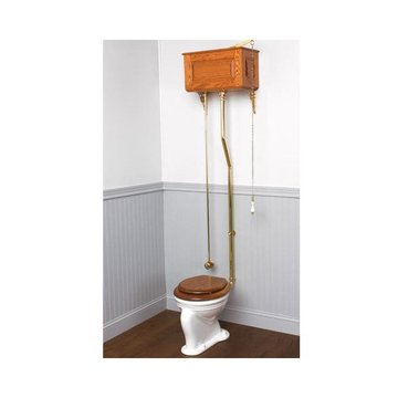 RAISED PANEL HIGH WOODEN TOILET TANK