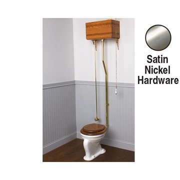 MORTISED HIGH WOODEN TOILET TANK