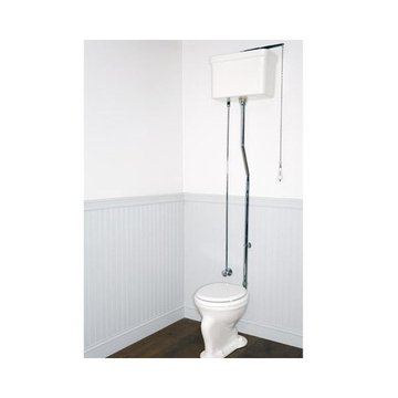 PORCELAIN PLAIN HIGH TANK TOILET