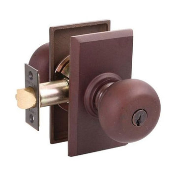 2 3/8 RECTANGLE KEYED DOOR SET WITH KNOB