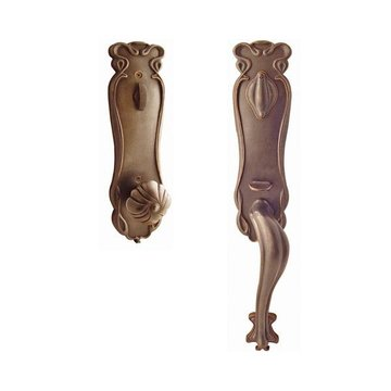ART NOUVEAU HANDLE TO KNOB ENTRY SET