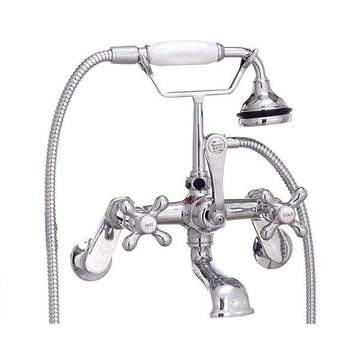 CHROME WALL MNT VINTAGE TELEPHONE FAUCET