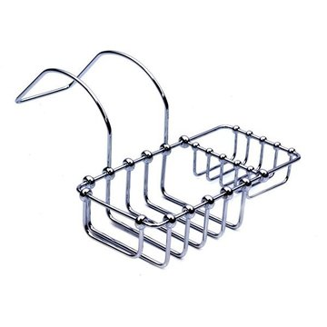 CHROME 8CLAW FOOT BATH SOAP & SPONGE HOLDER