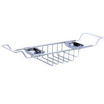 CHROME ADJUSTABLE BATH TUB SHELF