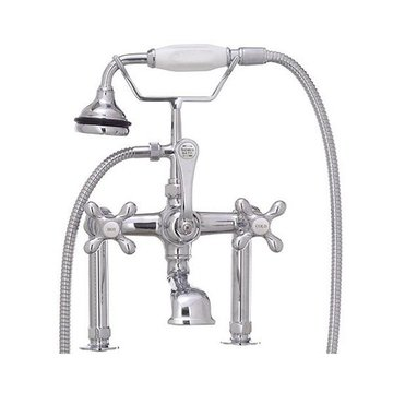 Restorers Leg Tub Filler Faucet With Hand Shower
