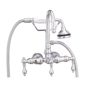 CHROME LEG TUB FILLER W/ METAL LEVERS