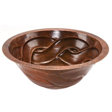 ROUND BRAIDED COPPER SINK