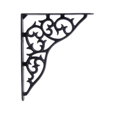 Restorers Black Powder 10 1/2 Inch Iron Shelf Bracket