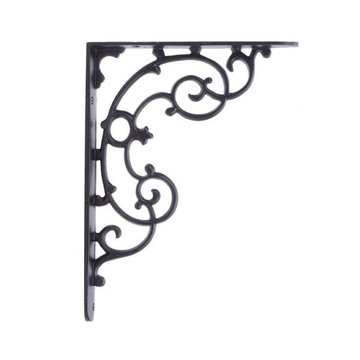 Restorers Classic Curved Vine Iron Shelf Bracket