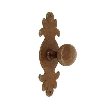 Classic Hardware Antique Rust Iron Knob With Backplate