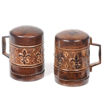 Versailles Fleur-De-Lis Salt  And Pepper Shakers