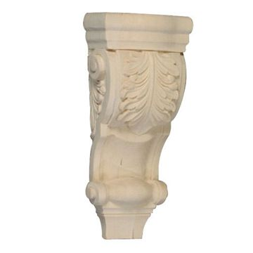 10 ACANTHUS LEAF LOW PROFILE CORBEL