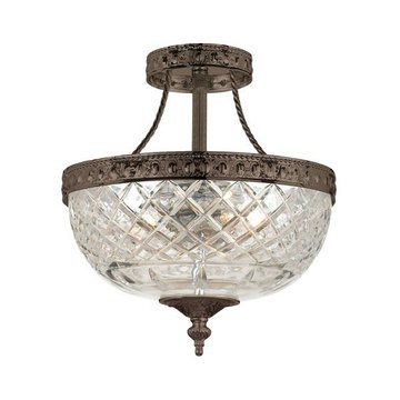 CRYSTAL BOWL FLUSH MOUNT
