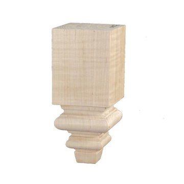 Traditional 10 1/4 Inch Square Furniture Leg