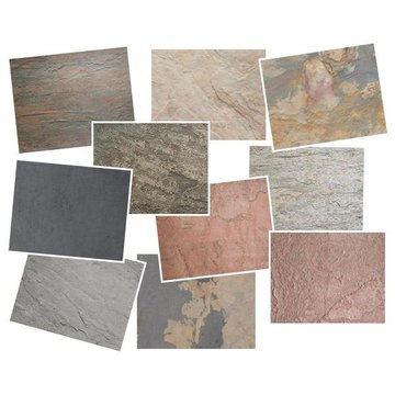 10PK SAMPLES STONE VENEER 3 X 3 PIECES  *DS*