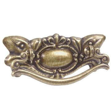 2 1/2 Inch Antique Brass Victorian Bail Pull