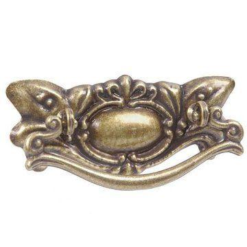 "2 1/2"" Antique Brass Victorian Bail Pull"
