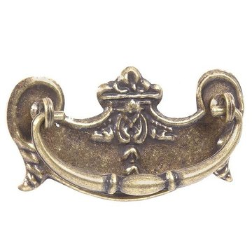 2 3/4 Inch Antique Brass Victorian Bail Pull