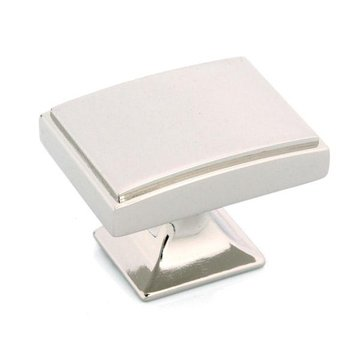 POLISHED NICKEL SQUARE KNOB 1 9/16X1 1/8X1 1/8