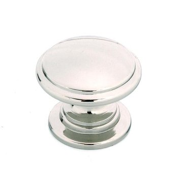 POLISHED NICKEL ROUND KNOB 1 3/16X1X1